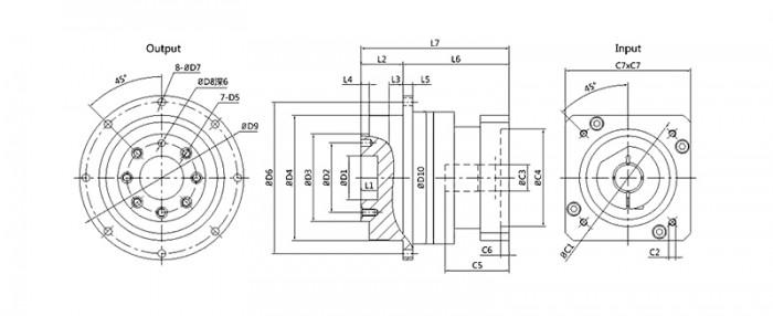 电焊机用行星减速机