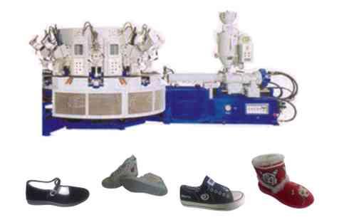 全自动圆盘式一二三色运动鞋注塑机