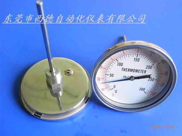 供应轴向全不锈钢双金属温度计