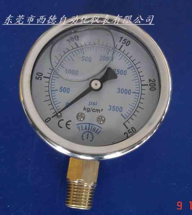供应径向充油耐震压力表